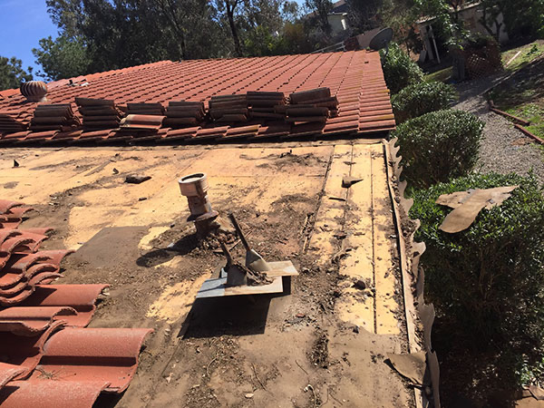 flat-roof being repaired